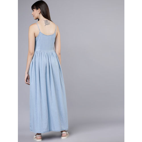 Tokyo Talkies Women Blue Maxi Dress