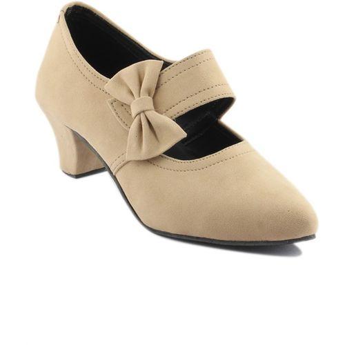 Cute Fashion Women Beige Heels