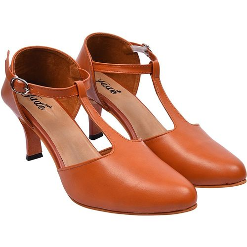 Jade Women Tan Heels
