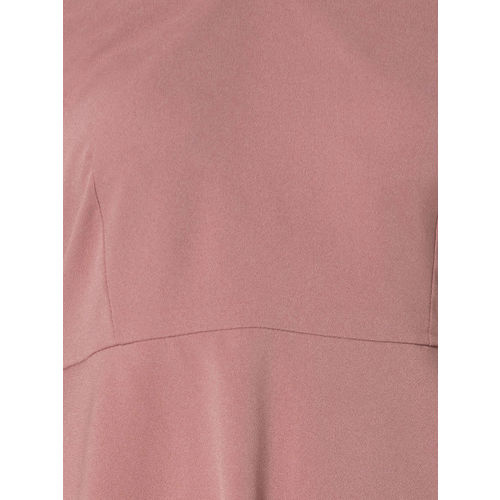 FabAlley Women Pink Solid Fit and Flare Dress