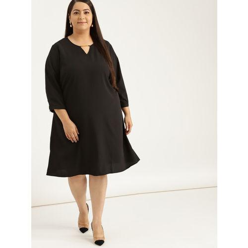 Sztori Women Black Solid Shift Dress