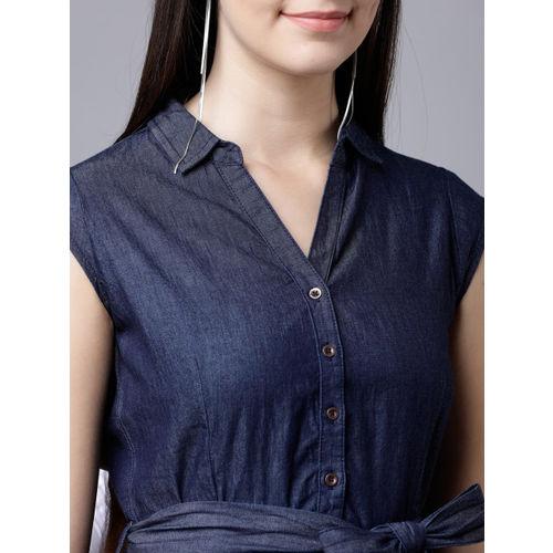 Tokyo Talkies Women Navy Blue Shirt Dress