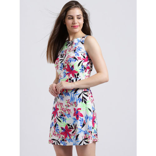 Sibi Women Multicoloured Floral Print Fit and Flare Dress