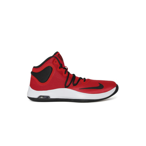 Nike Unisex Red AIR VERSITILE IV Mid-Top Basketball Shoes