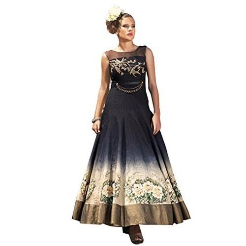 c33504b410c Buy Rozdeal New Black Sleeveless Banglori Printed Slawar Suit ...