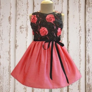ATUN Peach Rose Mania Dress