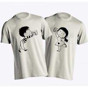 YOUNG TRENDZ Printed Men's Round Neck White T-Shirt