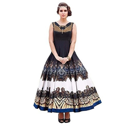 4ef5a762675 Buy Rozdeal New Black   White Banglori Silk Designer Gown online ...