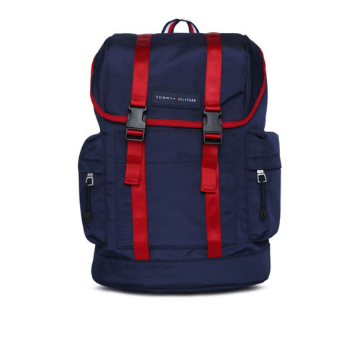Tommy Hilfiger Men Navy Blue Solid Backpack