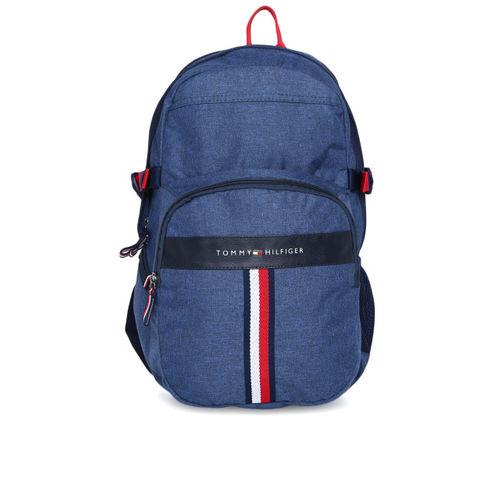 Tommy Hilfiger Unisex Navy Blue Solid Laptop Backpack