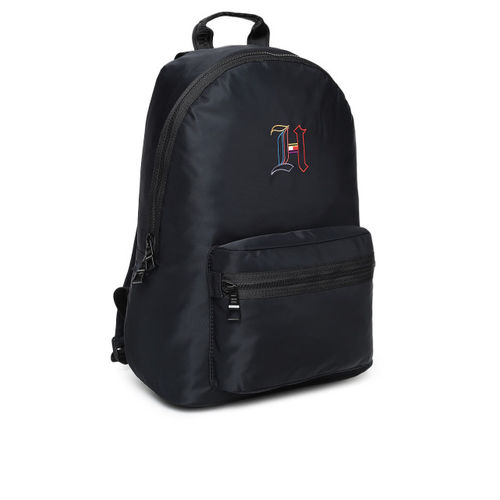 Tommy Hilfiger Men Navy Blue & Black Solid Backpack
