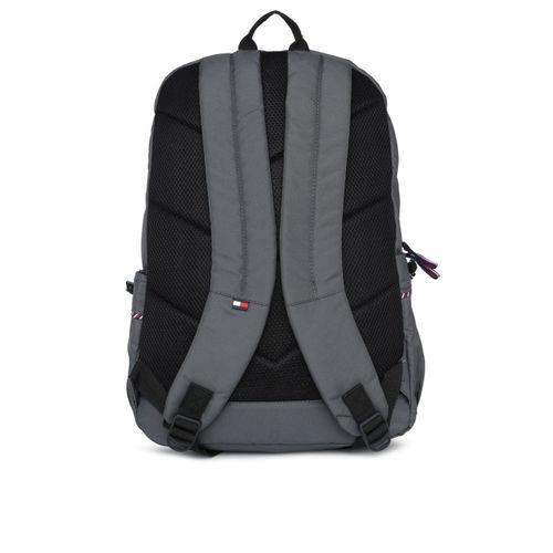 Tommy Hilfiger Unisex Grey Brand Logo Backpack