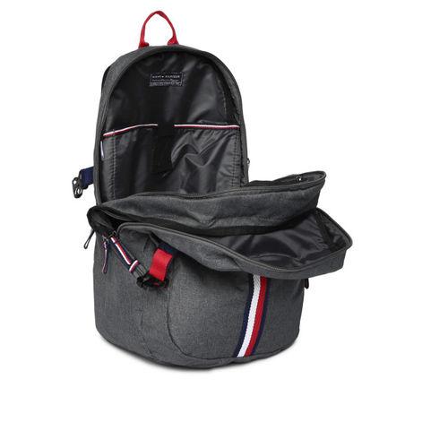 Tommy Hilfiger Unisex Grey Solid Backpack