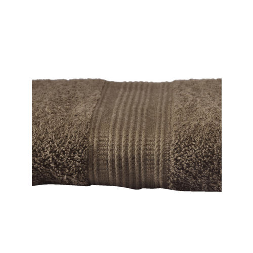 Trident Brown Solid 400 GSM Cotton Bath Towel