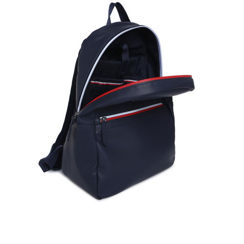 Tommy Hilfiger Men Navy Blue Solid Backpack