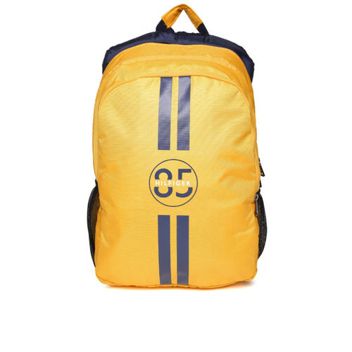 Tommy Hilfiger Unisex Yellow Print Detail Laptop Backpack