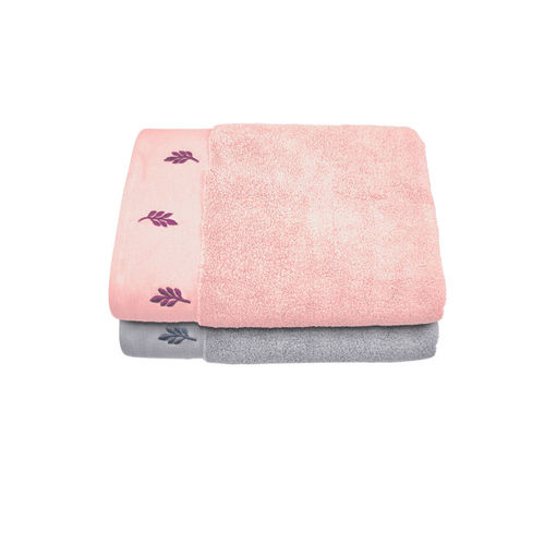 Swiss Republic Cotton 700 GSM Bath Towel Set(Pack of 2, Pink, Grey)