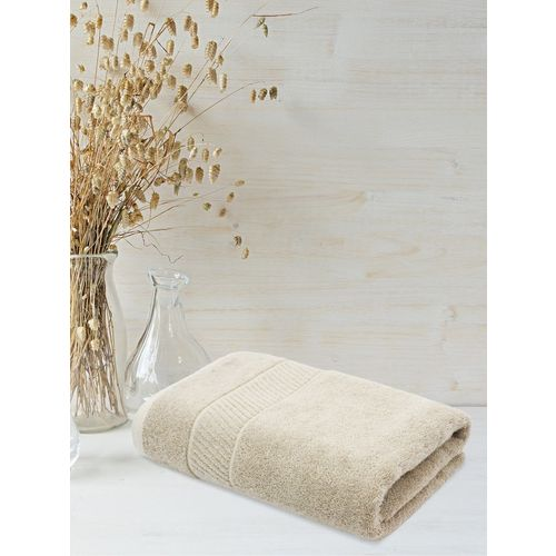 Trident Cotton 550 GSM Bath Towel(Beige)