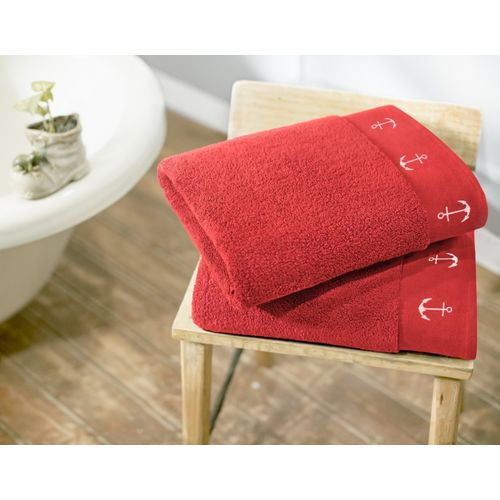 Swiss Republic Cotton 600 GSM Bath Towel(Pack of 2, Red)