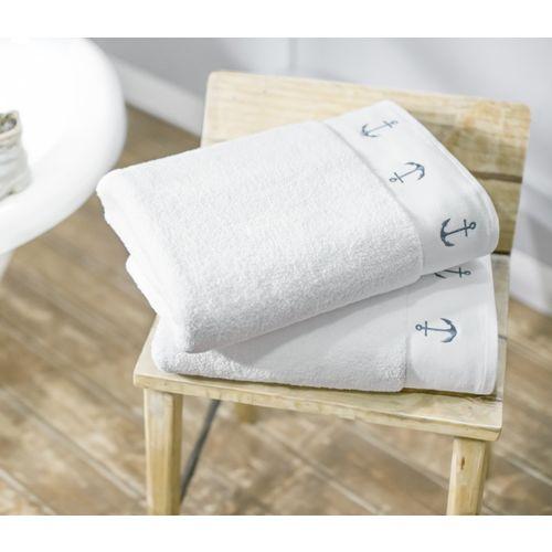 Swiss Republic Cotton 600 GSM Bath Towel(Pack of 2, White)