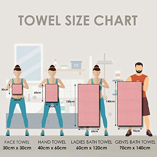 Story@Home 100% Cotton Soft Towel Set of 2 Pieces, 450 GSM - 1 Full Size Bath Towel, 1 Medium Bath Towel - Dark Red and Beige