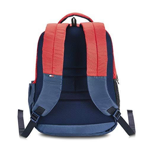 Tommy Hilfiger 29.44 Ltrs Red +Navy Laptop Backpack (TH/DETROITLAP04)