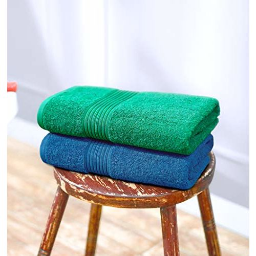 Swiss Republic Bath Towels Set- Signature collection 630 GSM made with 100% ring spun extra soft cotton with quick dry and double stitch line for extra long