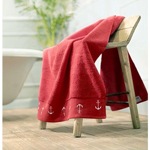 Swiss Republic Rivera 2 Piece 600 GSM Cotton Bath Towel - Red