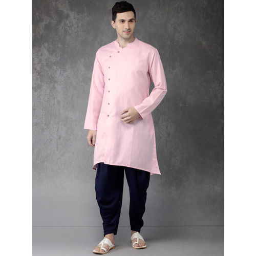 Anouk Men Pink Solid Straight Kurta