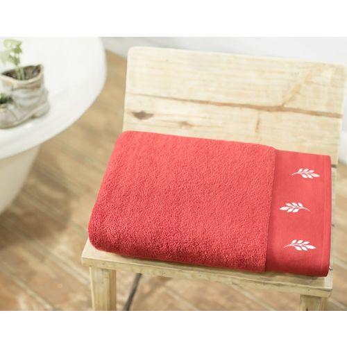 Swiss Republic Cotton 700 GSM Bath Towel Set(Pack of 2, Red)