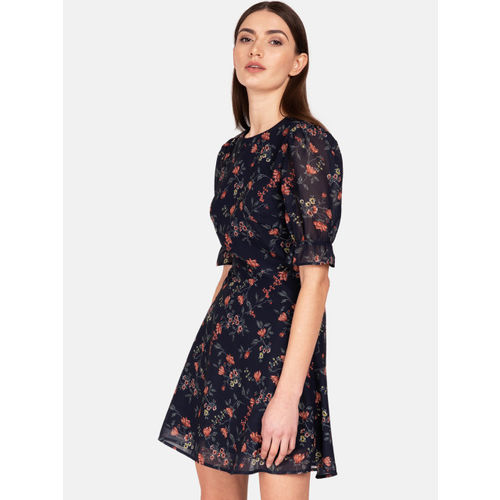 Kazo Women Blue Fit and Flare Dress