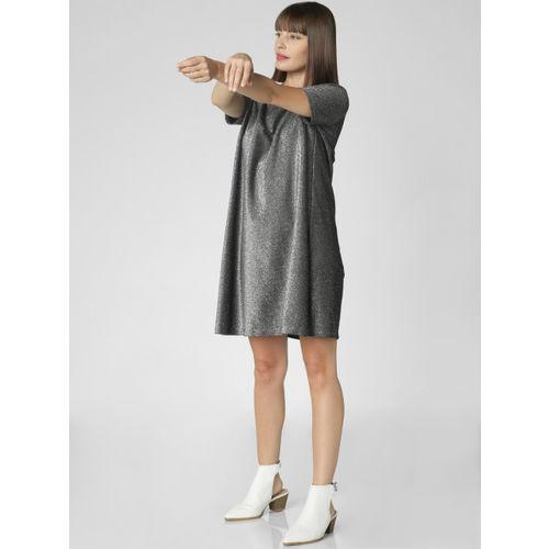 Vero Moda Women Black Shimmer Sheath Dress