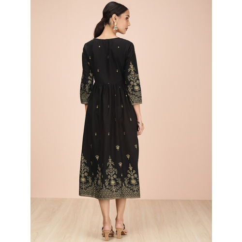 all about you from Deepika Padukone Women Black Printed A-Line Dress