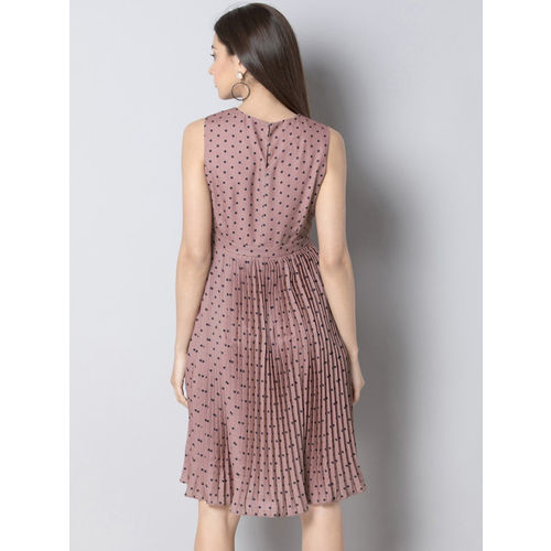 FabAlley Women Pink Fit and Flare Dress