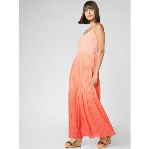 Vero Moda Women Peach & Orange Solid Maxi Dress