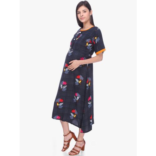 MomToBe Women Grey A-Line Dress