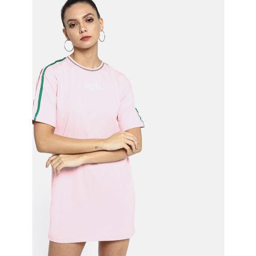 Kook N Keech Women Pink Solid T-shirt Dress