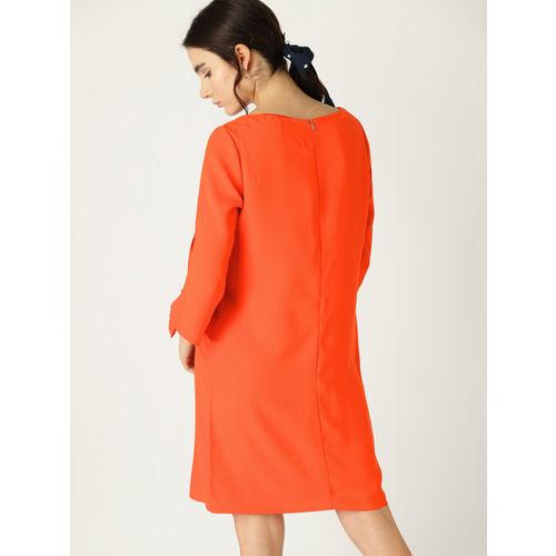 ESPRIT Women Orange Solid Shift Dress