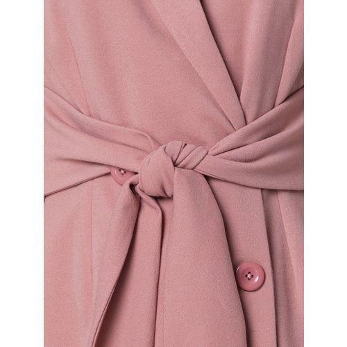 FabAlley Women Pink Solid Shirt Dress