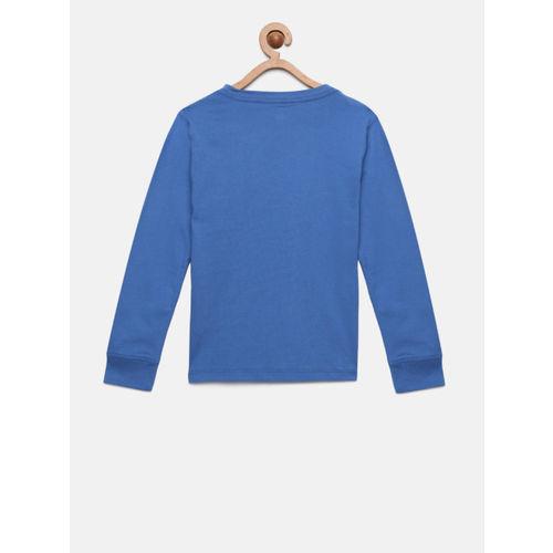 Tommy Hilfiger Boys Blue Printed Round Neck T-shirt