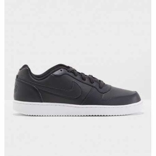 Nike Men's Black EBERNON Low Leather Sneakers (AO1775-001)