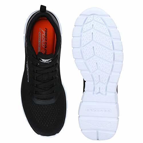 Red Tape Black Mesh Nordic Walking Shoes