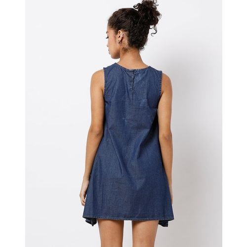 Freakins Stone-Washed Trapeze Dress