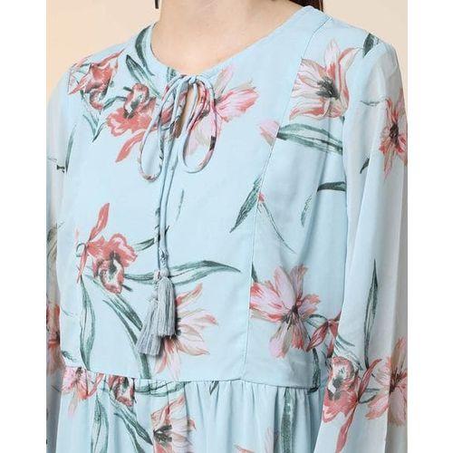 AJIO Floral Print A-line Dress
