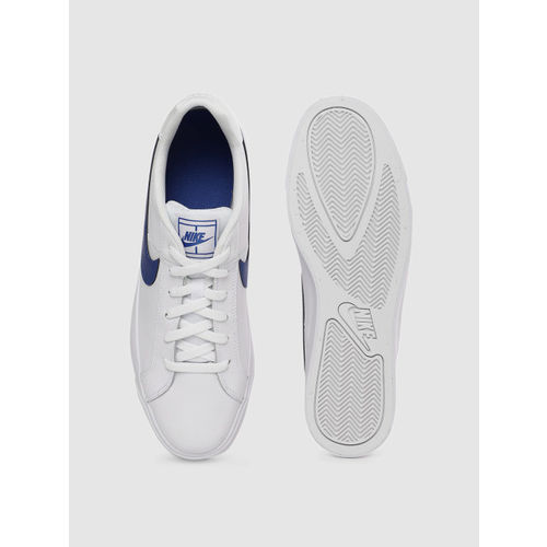 Nike Men White COURT ROYALE AC Leather Sneakers