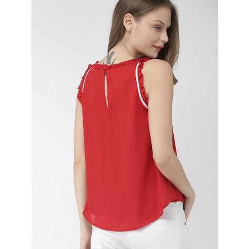 Mast & Harbour Women Red Solid Top