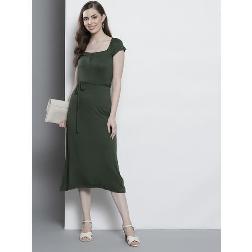 DOROTHY PERKINS Women Green Solid A-Line Dress