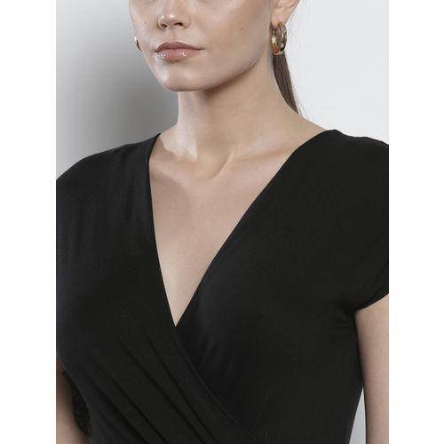 DOROTHY PERKINS Women Black Solid Maxi Dress