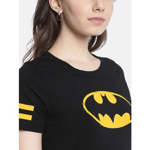 Justice League Women Black Batman Print A-Line Dress