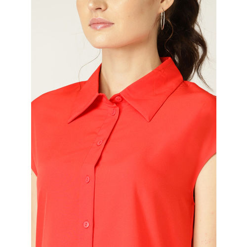 United Colors of Benetton Women Red Shirt Dress